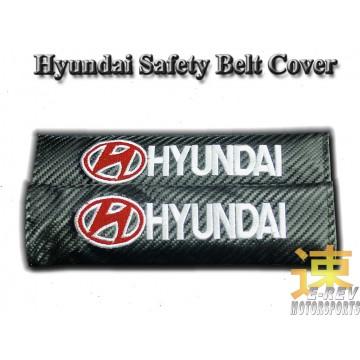 Hyundai Carbon Fibre Look Seat Belt Cushion