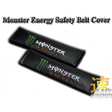 Monster Energy Carbon Fibre Look Seat Belt Cushion