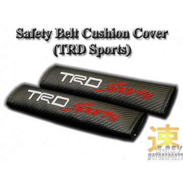TRD Sports Carbon Fibre Look Seat Belt Cushion