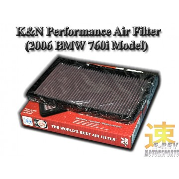 K&N Air Filter - BMW 760i