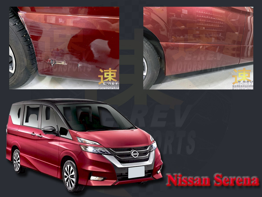 Nissan Serena Car Door Damage Repair